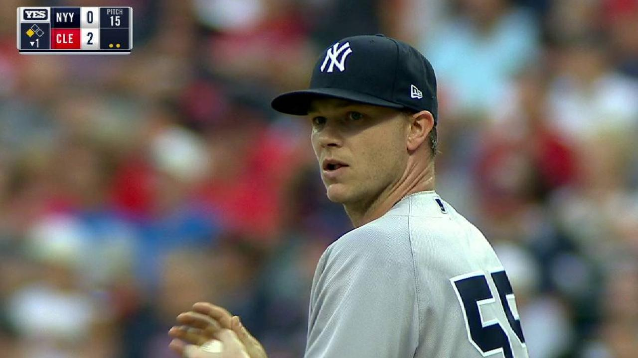 Gray's first K as a Yankee