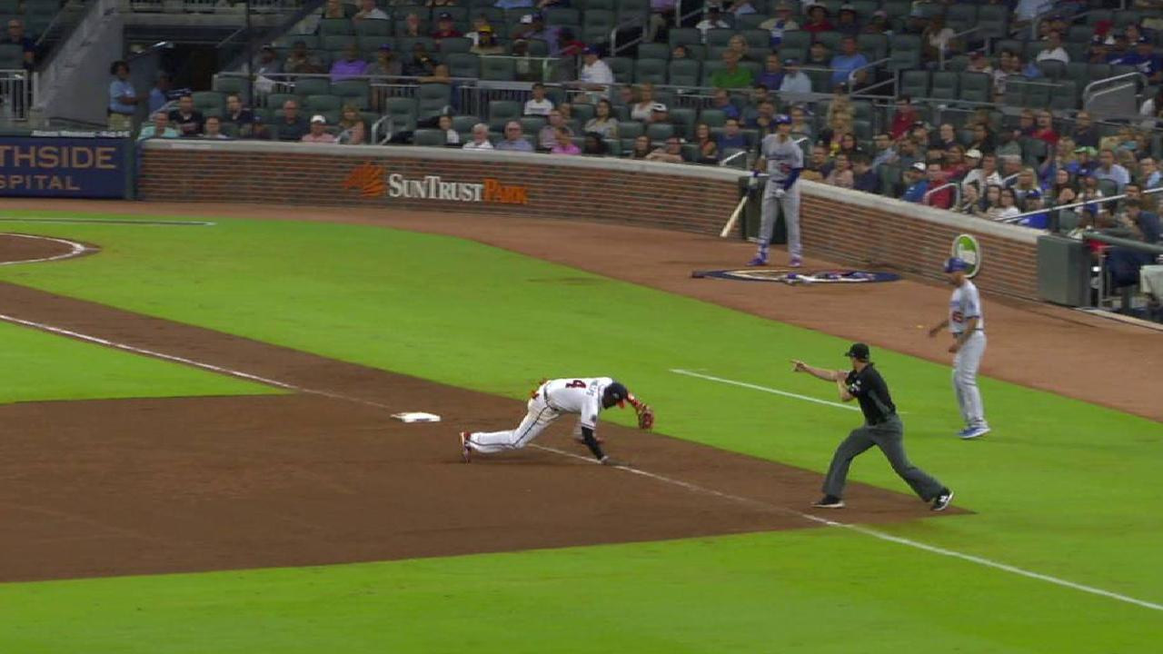 Phillips' nice backhanded stop