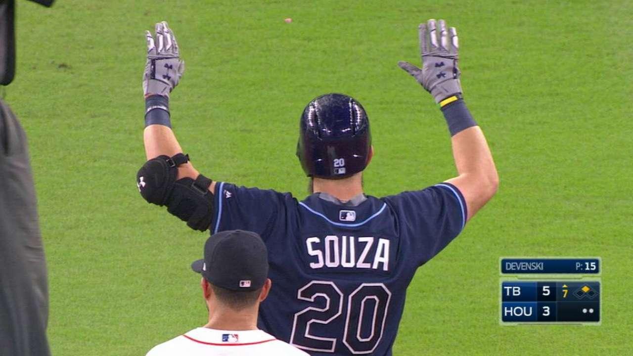 Souza, Rays win 3rd straight, series vs. Astros