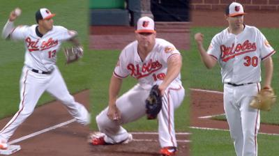 Baltimore Orioles Machado, Schoop, Davis turn slick triple play — Watch