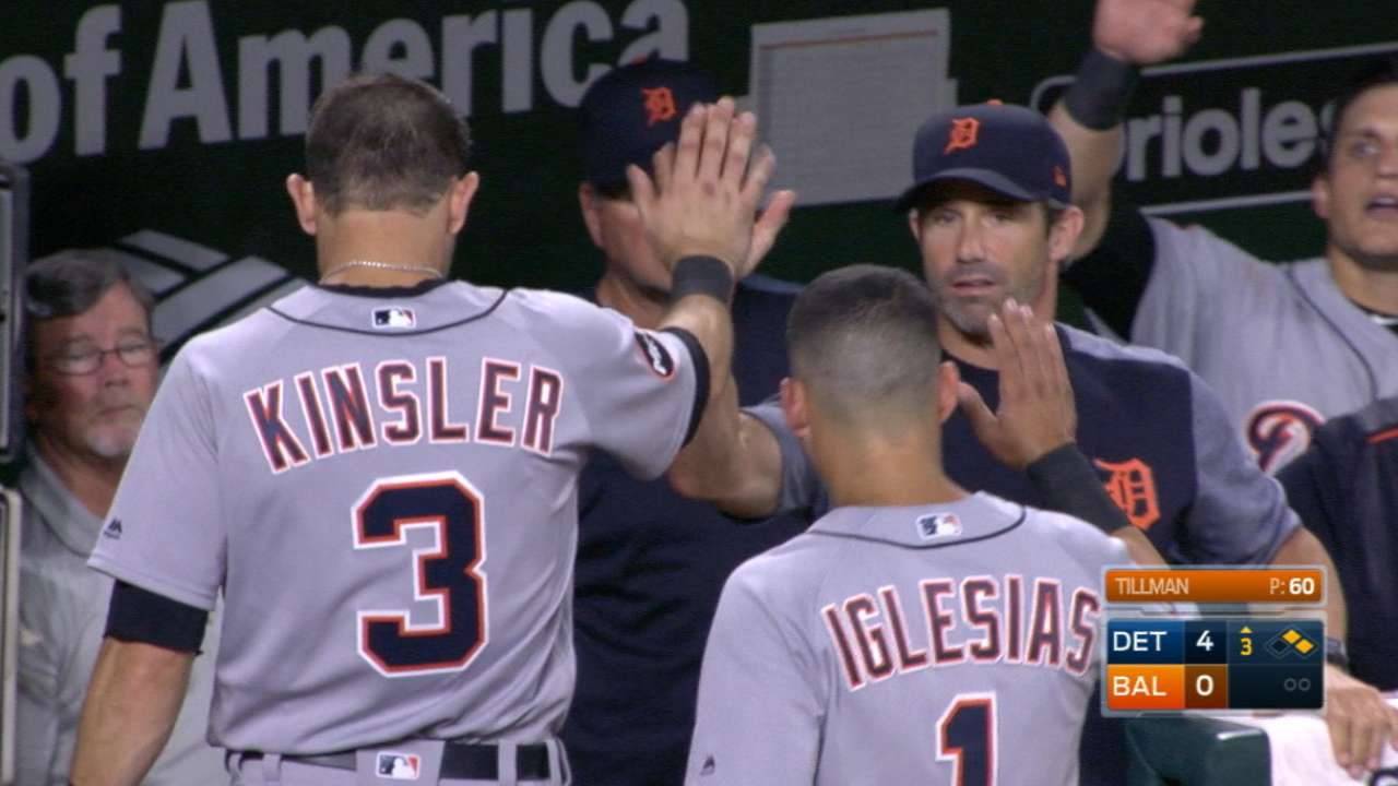 Up 7 after 2 rain delays, Tigers hold off Orioles