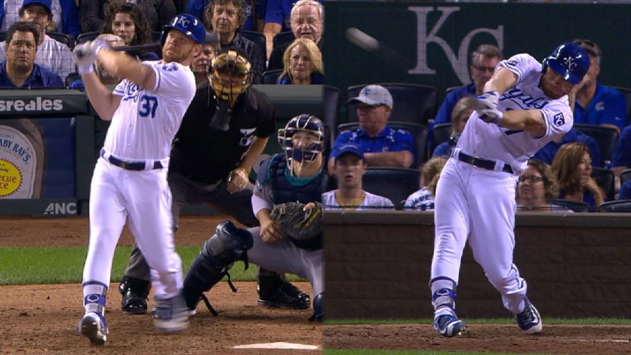 Moss homers twice as Royals rally past M's