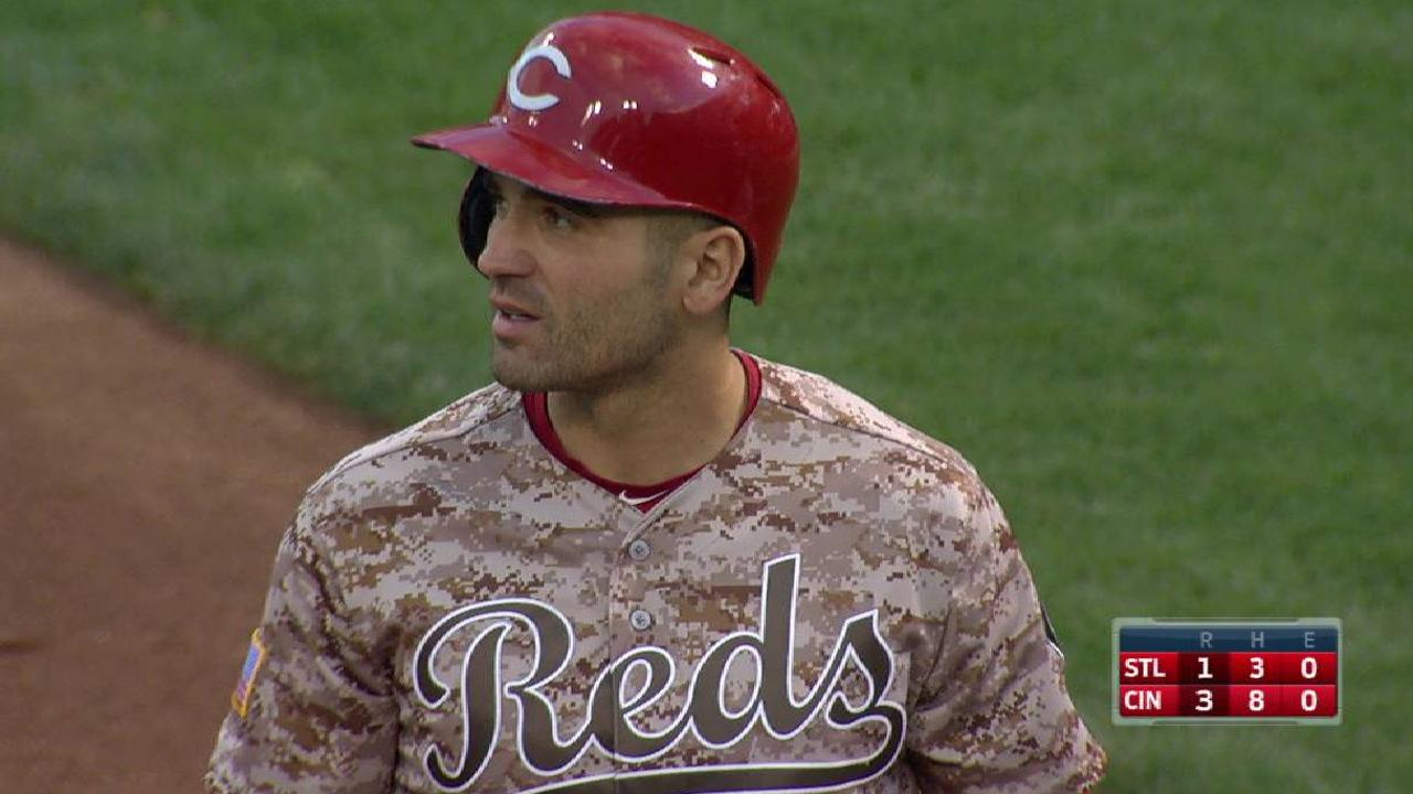 Reds, Votto scratch off rival Cards