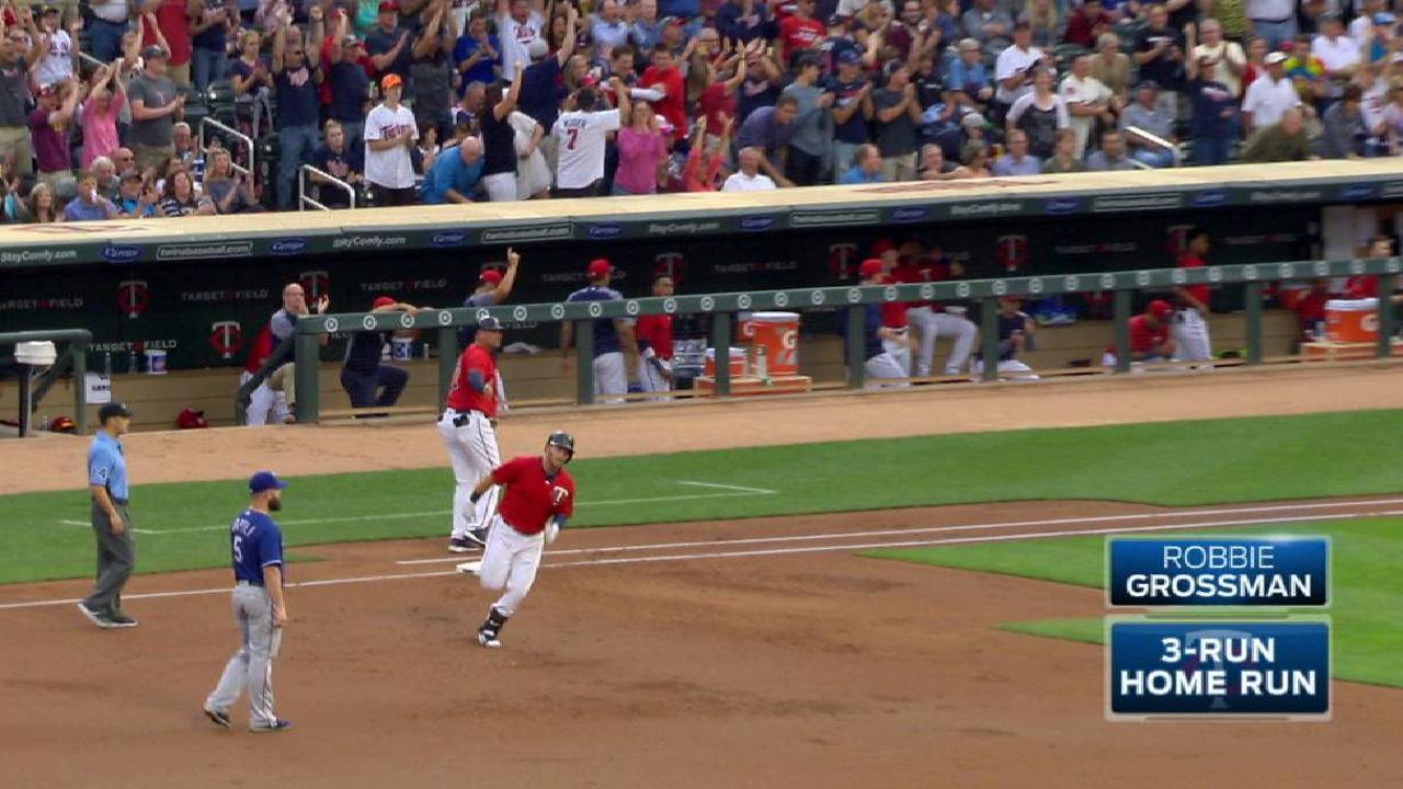 Grossman's three-run home run