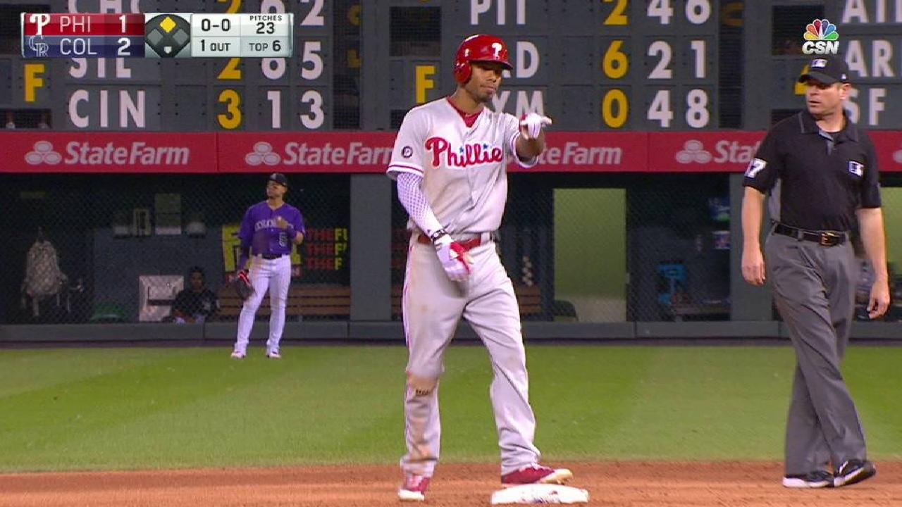 Phillies' rally falls short against Rockies