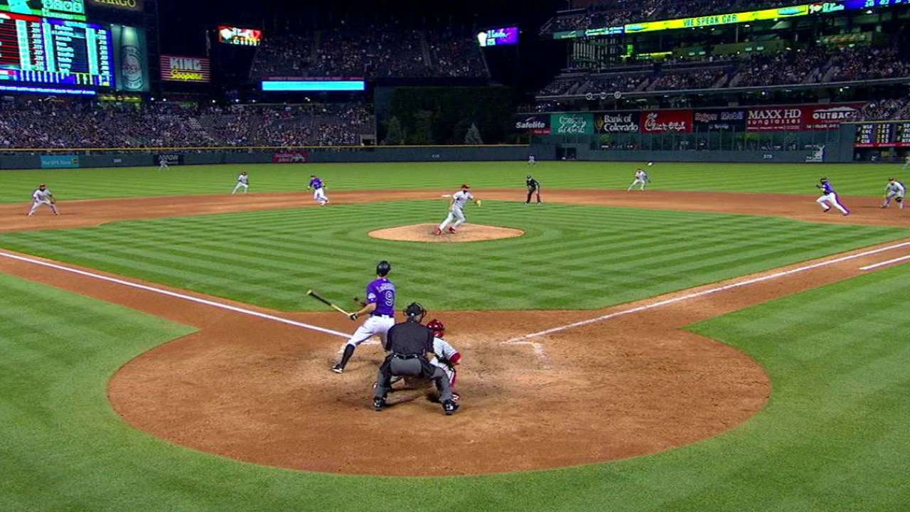 DJ spins win vs. Phils; Rox keep pace in race