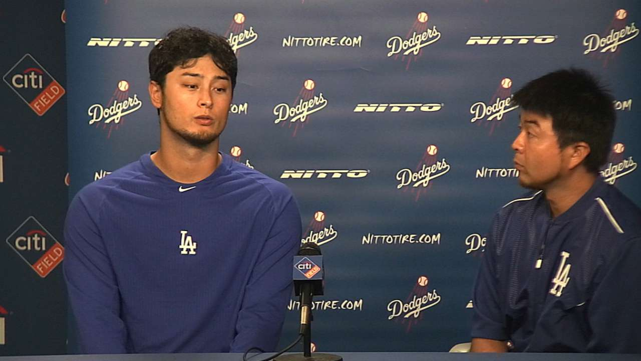 Darvish on first Dodgers start