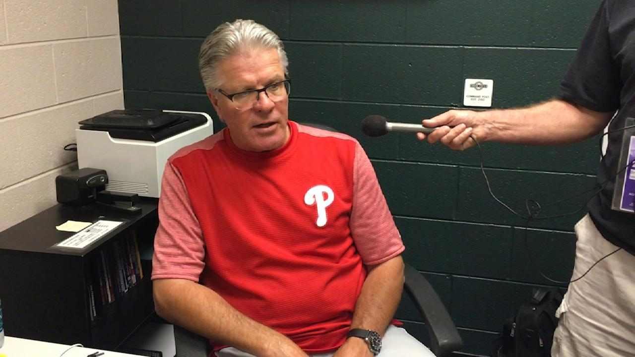 Mackanin on 4-3 loss to Rockies