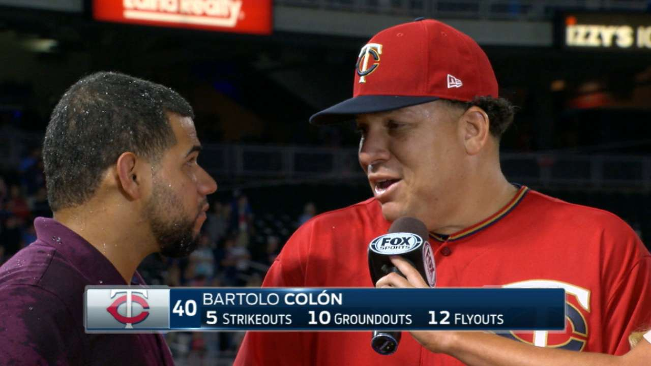 Colon on his complete-game win