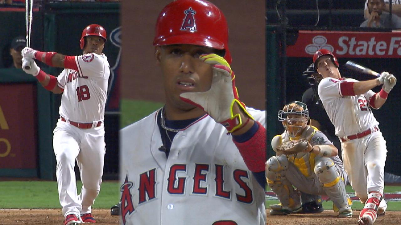 Halos overtake A's in big 7th, win 4th straight