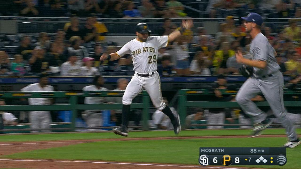 Pirates erupt for six-run inning to beat Padres