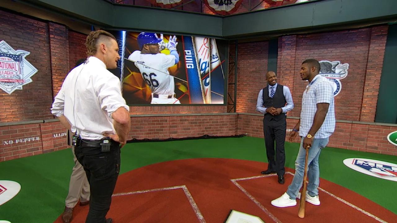 Puig on his throwing style