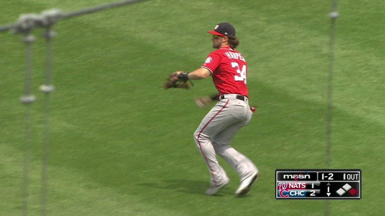 Harper throws out Contreras
