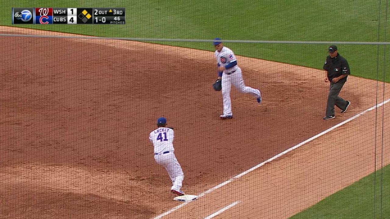 Lackey gets out of a jam