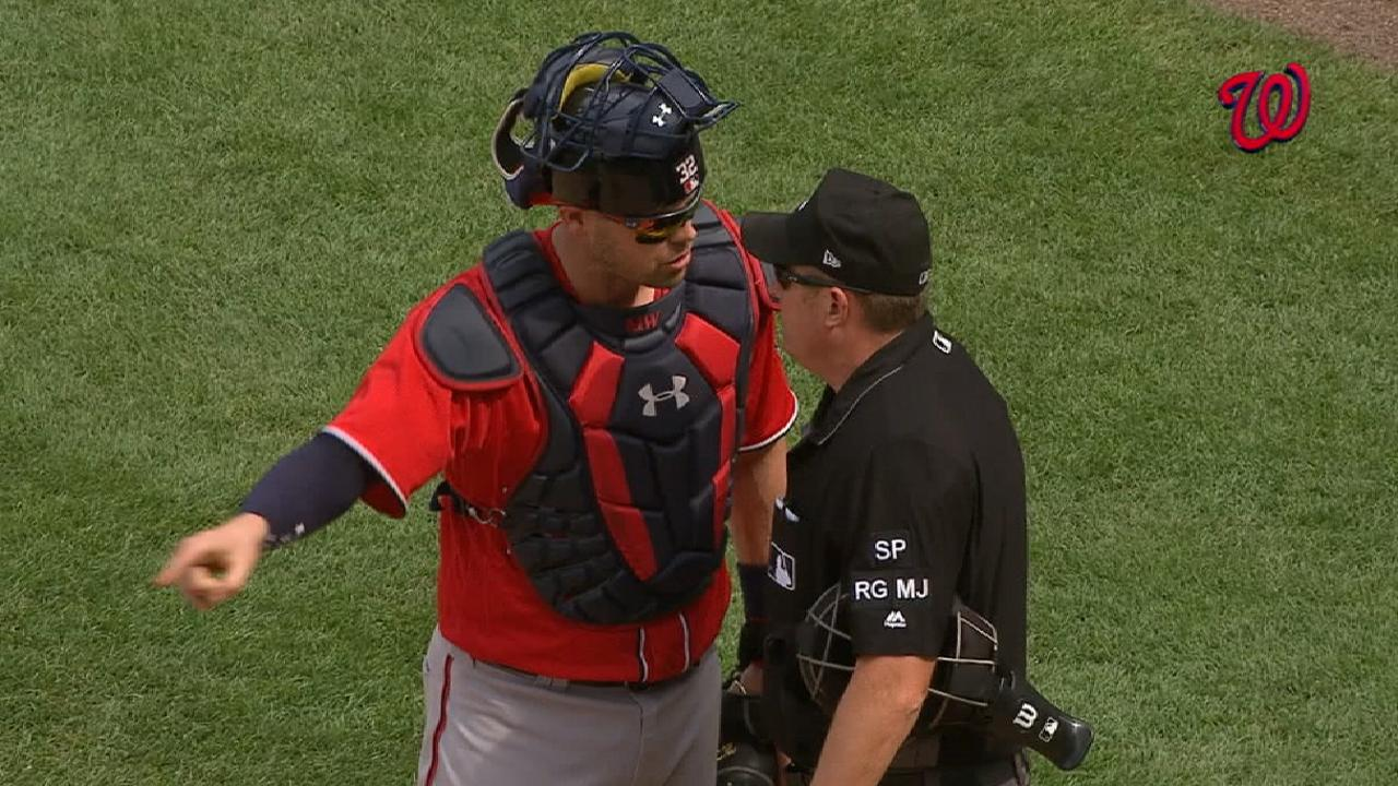 Wieters ejected for arguing