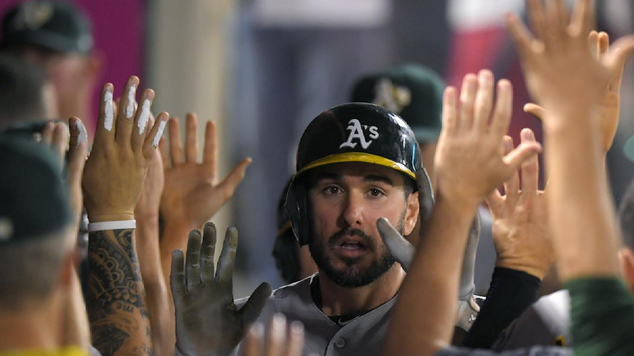 A's outfielder Joyce suspended 2 games