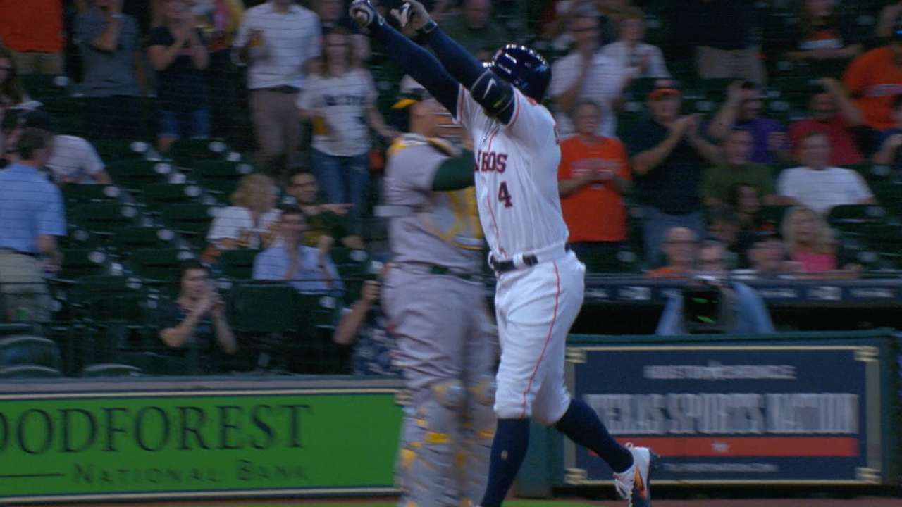 Must C: Springer's leadoff HR