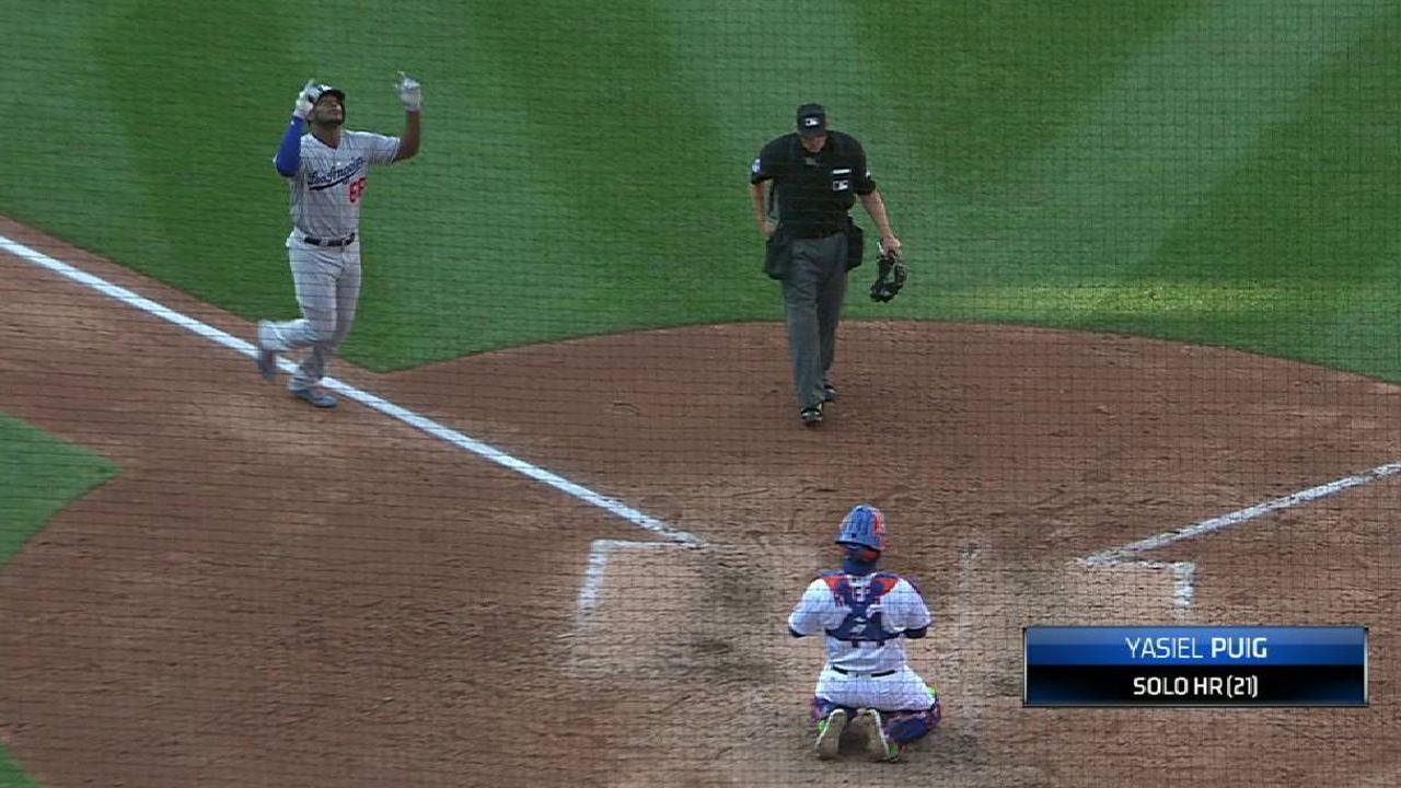 Jonrón decisivo del cubano Puig guía triunfo de Dodgers