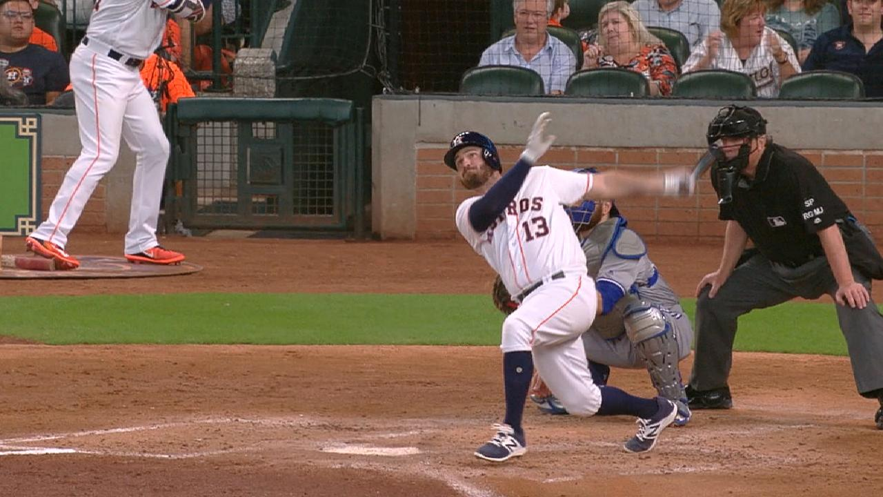 White's solo home run
