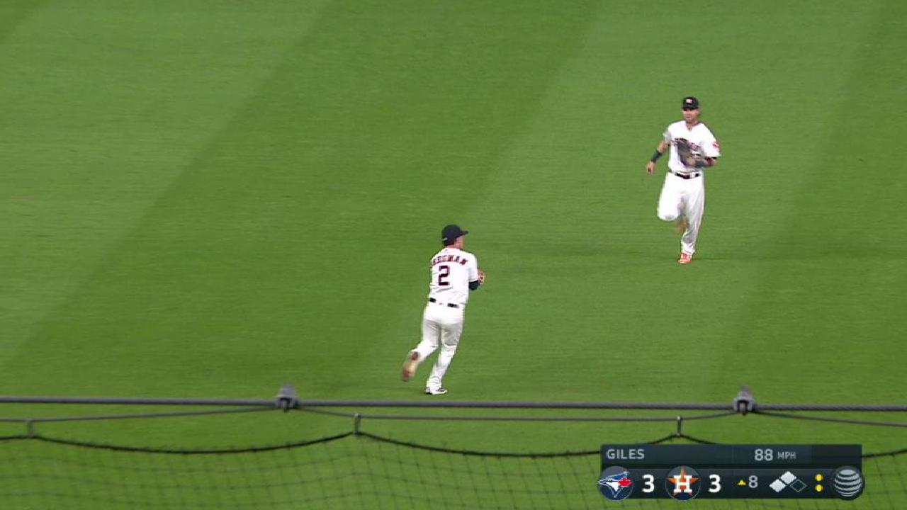 Bregman's over-the-shoulder grab