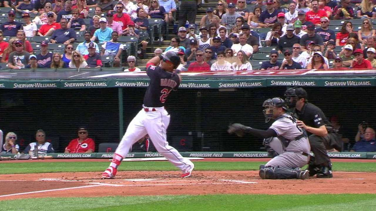 Brantley makes Indians' ALDS roster