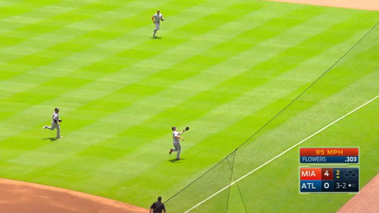 Realmuto's smooth running catch