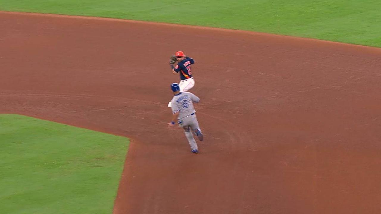 Bregman nabs Morales at second