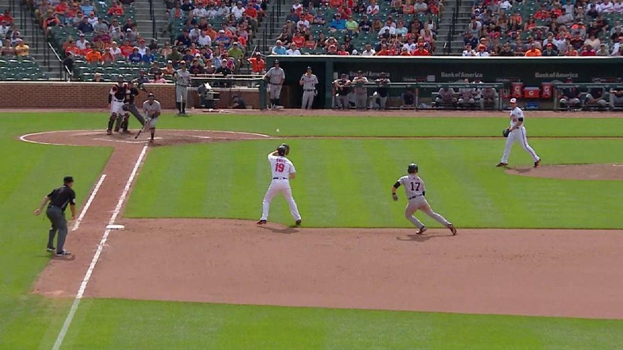 Davis' unassisted double play