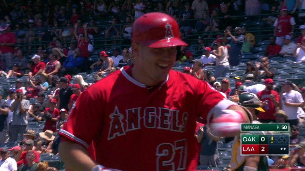 Trout's solo smash