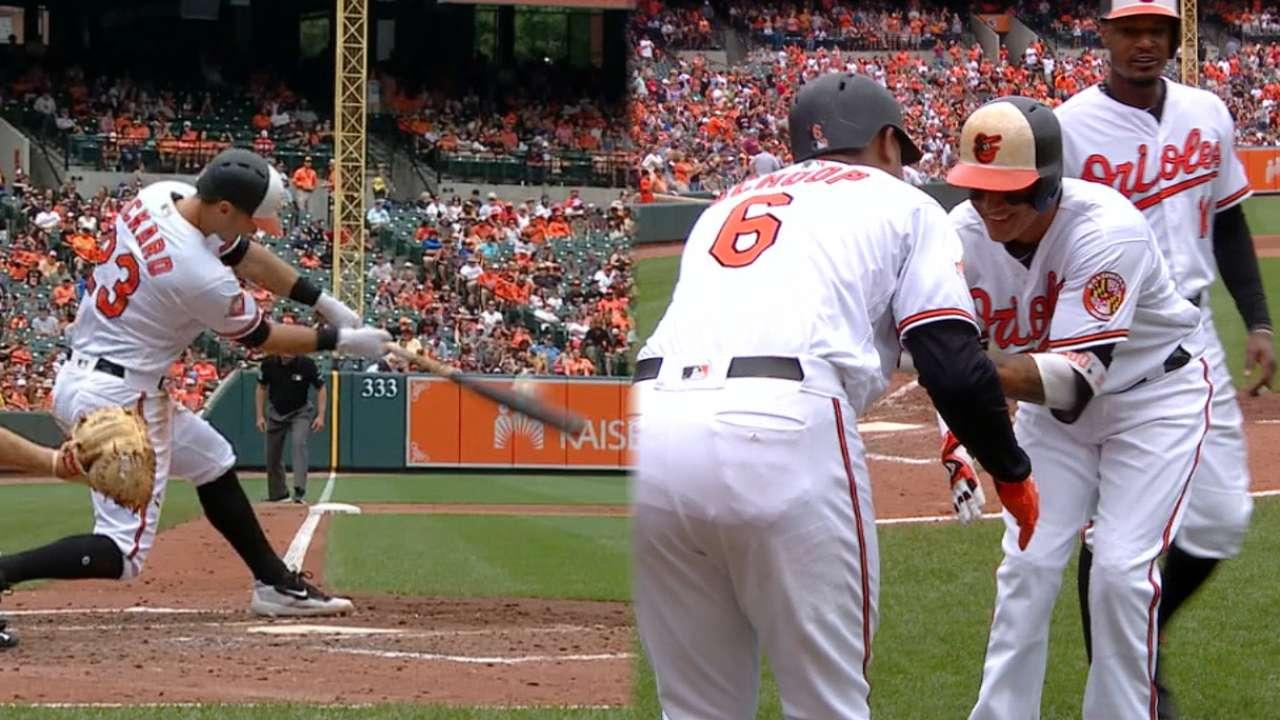 Orioles crush five home runs