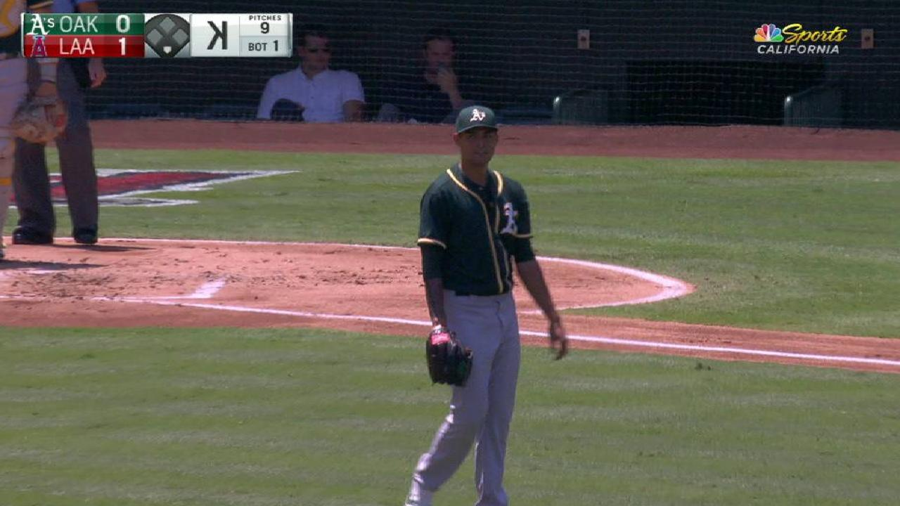 Manaea strikes out Trout