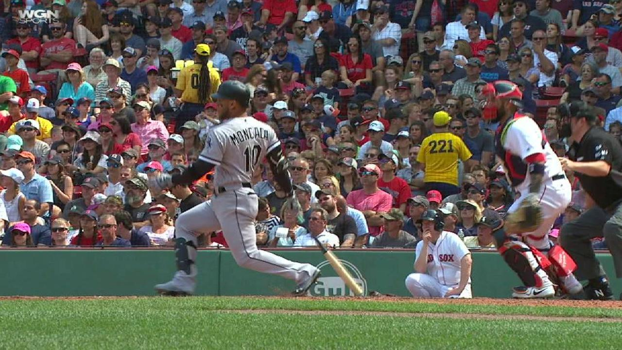 Moncada posts productive return to Fenway