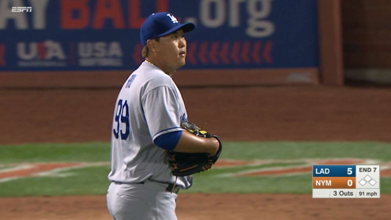 Ryu's dominant one-hit outing