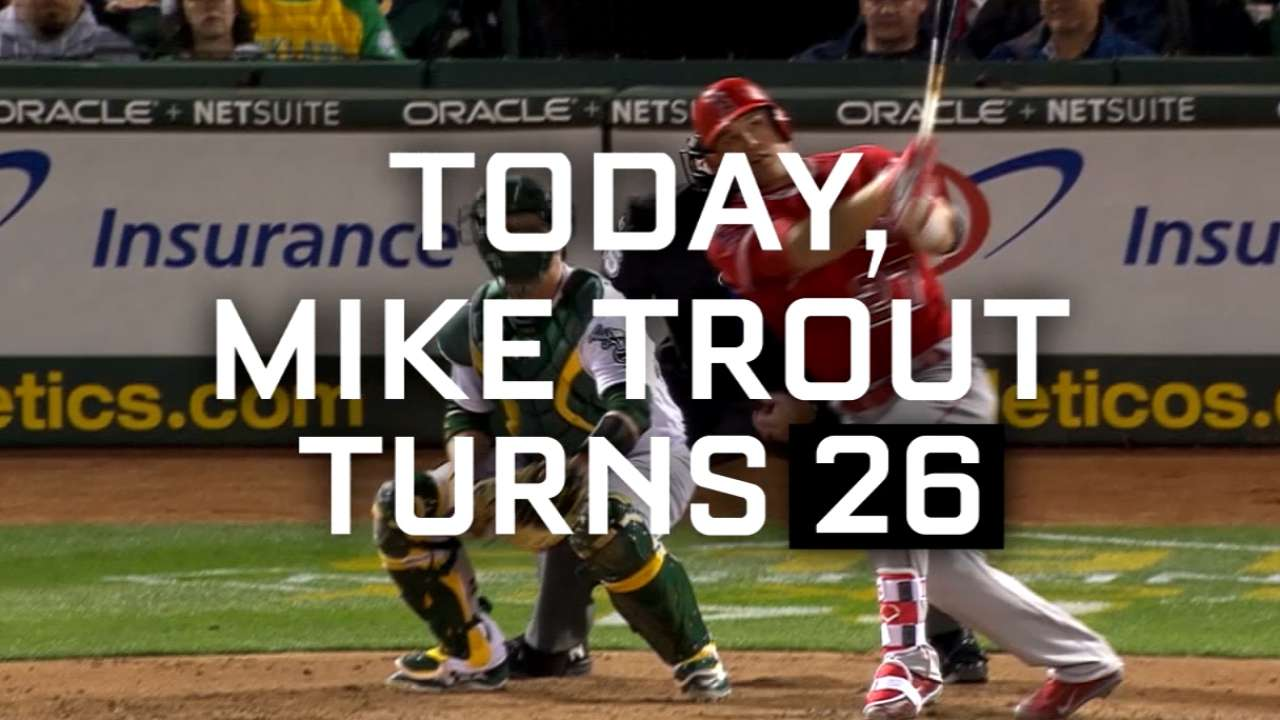 Trout at 26: Superstar has few historical peers