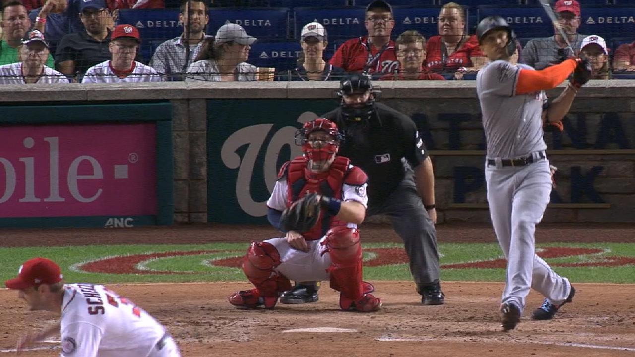 Stanton smashes homer No. 37 off Scherzer