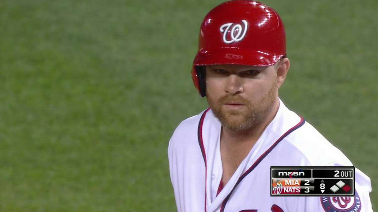Nationals' Lind handy in a pinch vs. Marlins