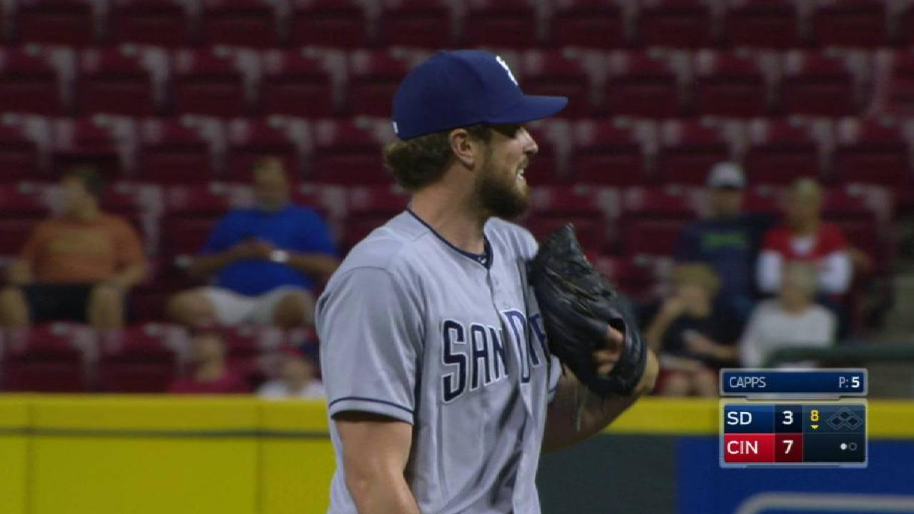 Padres reliever Capps recovery with callup