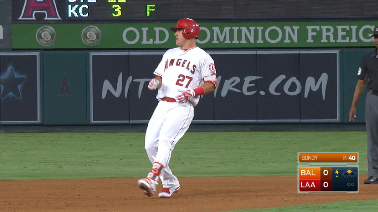 Trout's 1,000th hit