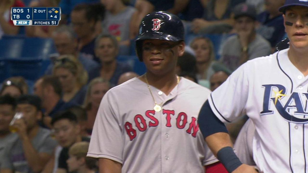 Devers' RBI forceout
