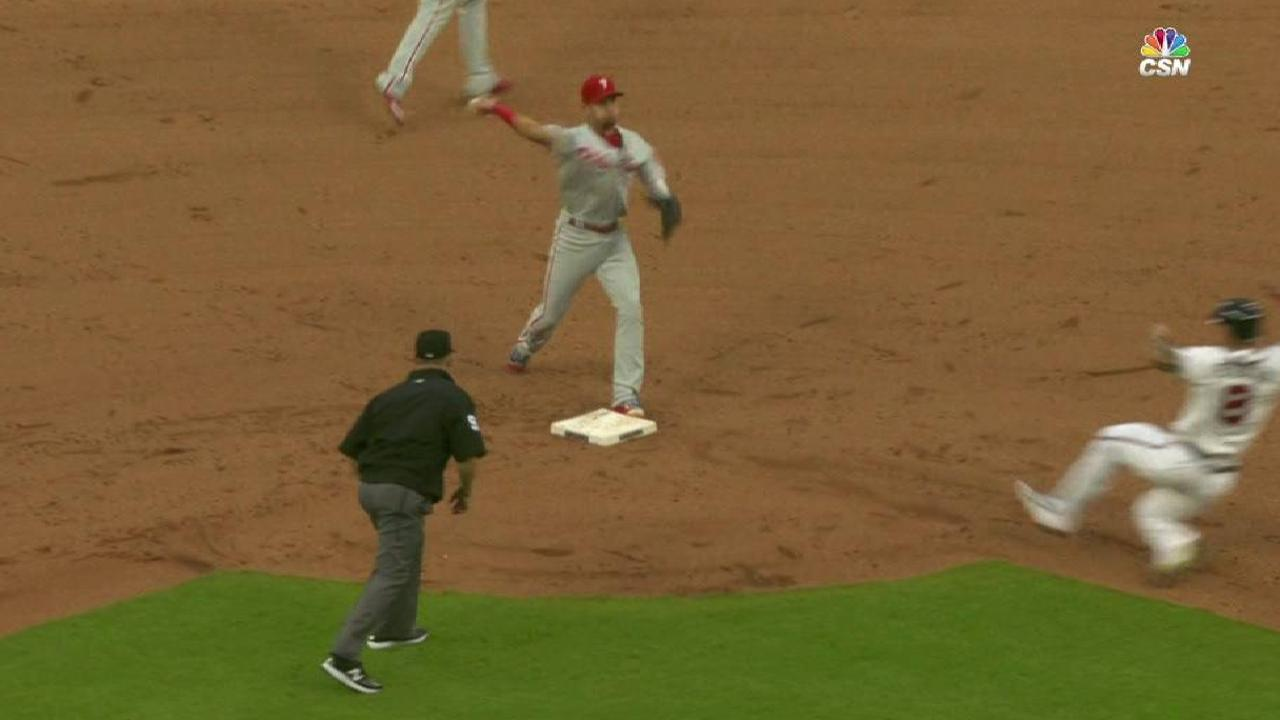 Phillies' slick double play