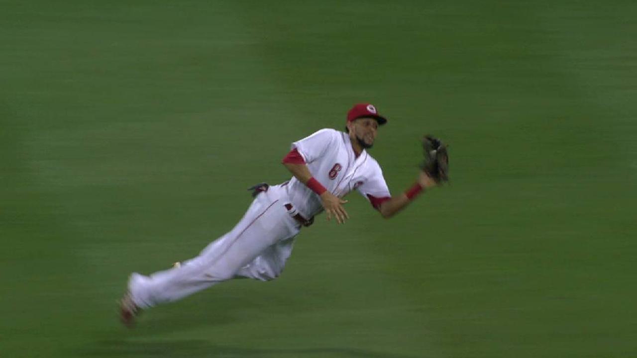 Hamilton's diving catch