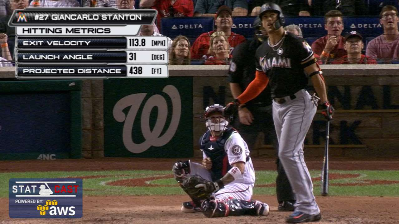 Stanton sets career high with 38th homer