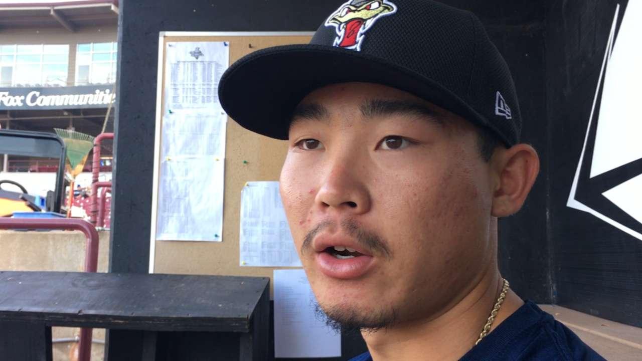 Crew prospect Hiura continues to progress