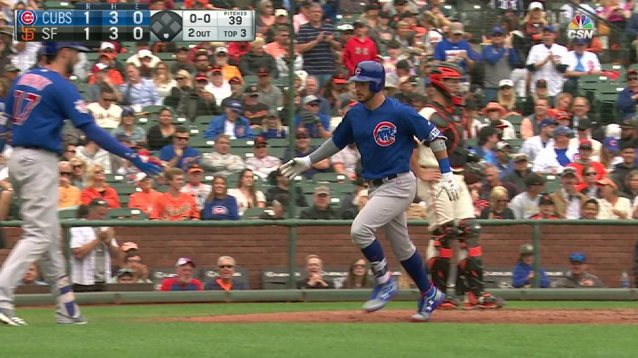 Almora homers, but Cubs edged by Giants