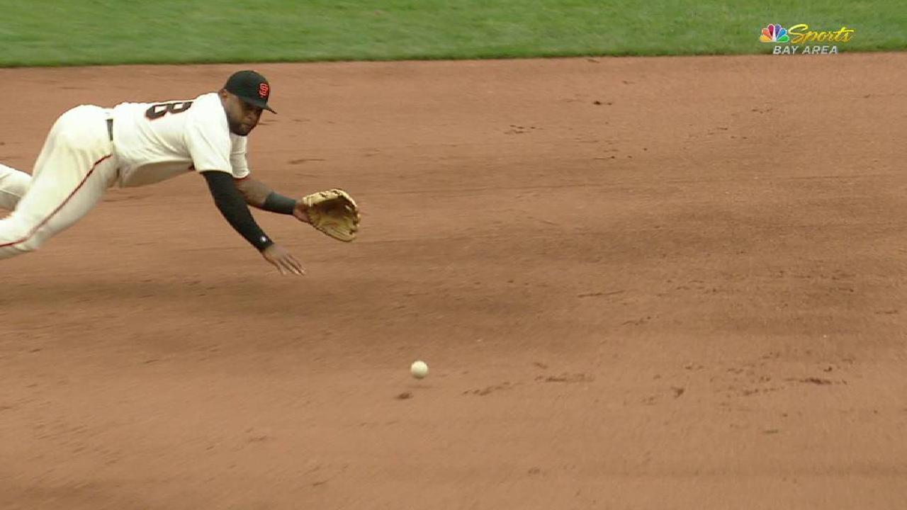 Sandoval's diving play