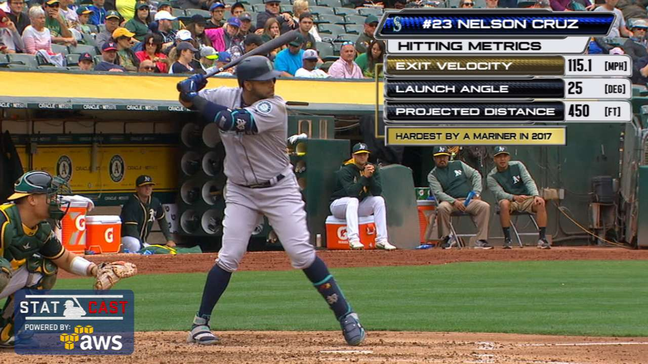 Cruz crushes Mariners' second-hardest-hit HR