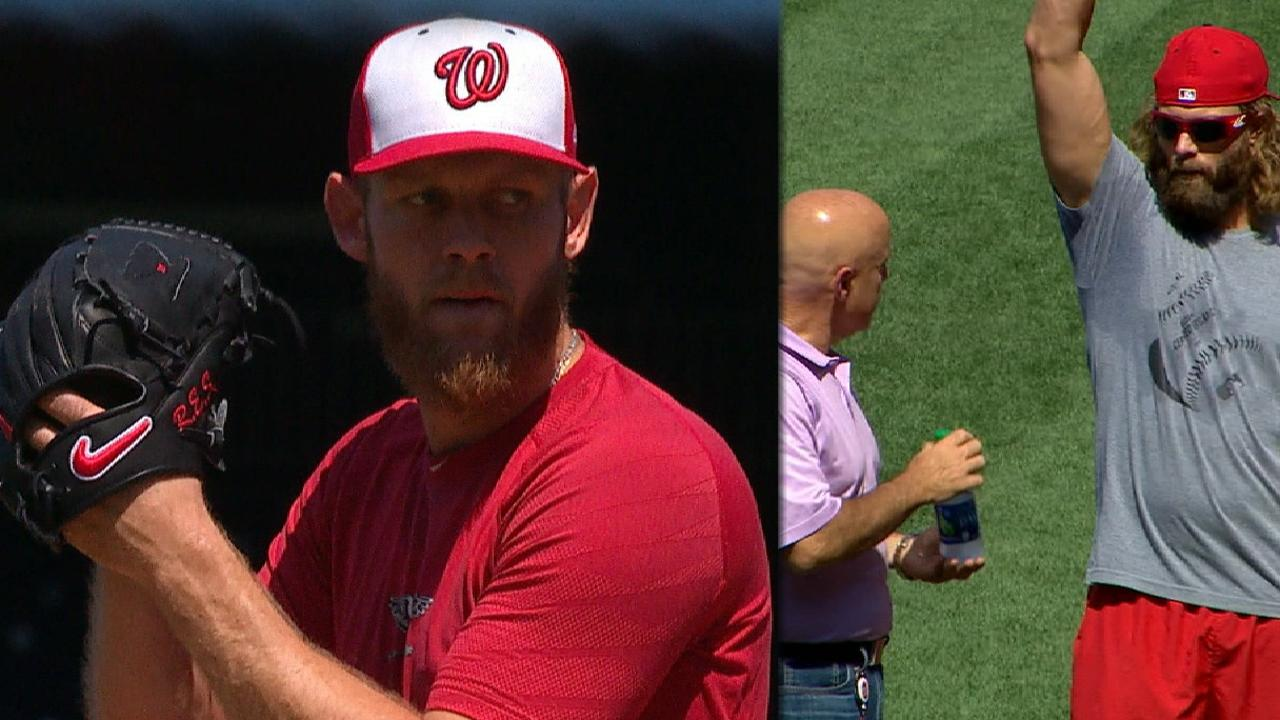 Strasburg throws sim game, set for rehab start