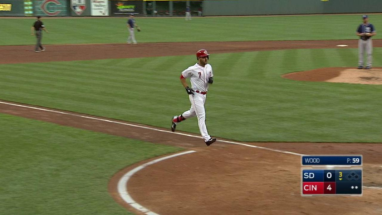 Suarez's two-run home run