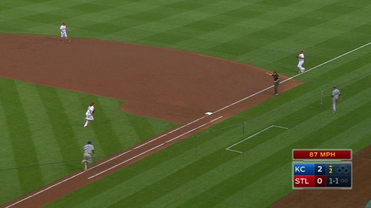 Carpenter's nifty play at first