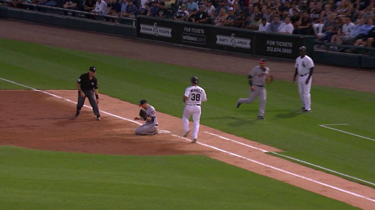 McHugh's command off mark vs. White Sox
